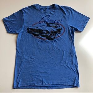 Camaro by Chevrolet blue graphic t-shirt M
